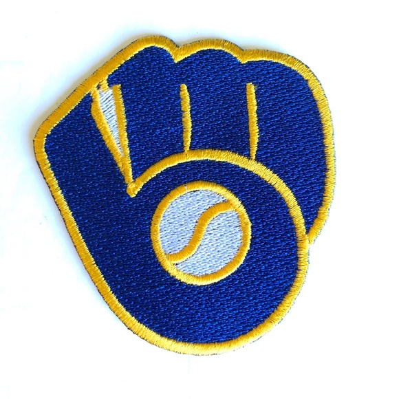free shipping 0c8a0 714df Brewers patch iron on Milwaukee MLB baseball DIY Boutique